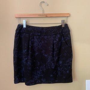 Black/Navy Forever 21 Skirt